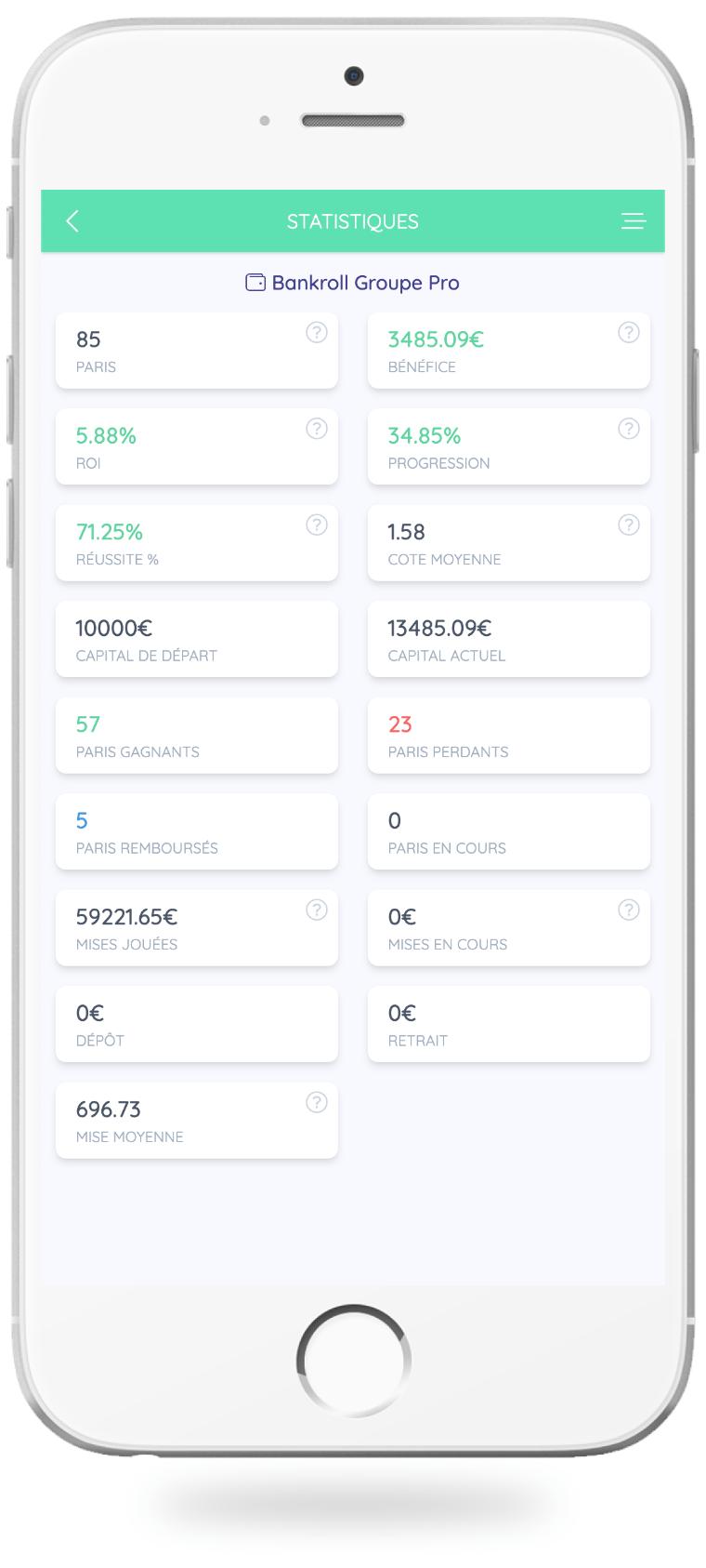 Les statistiques dans Bet Analytix