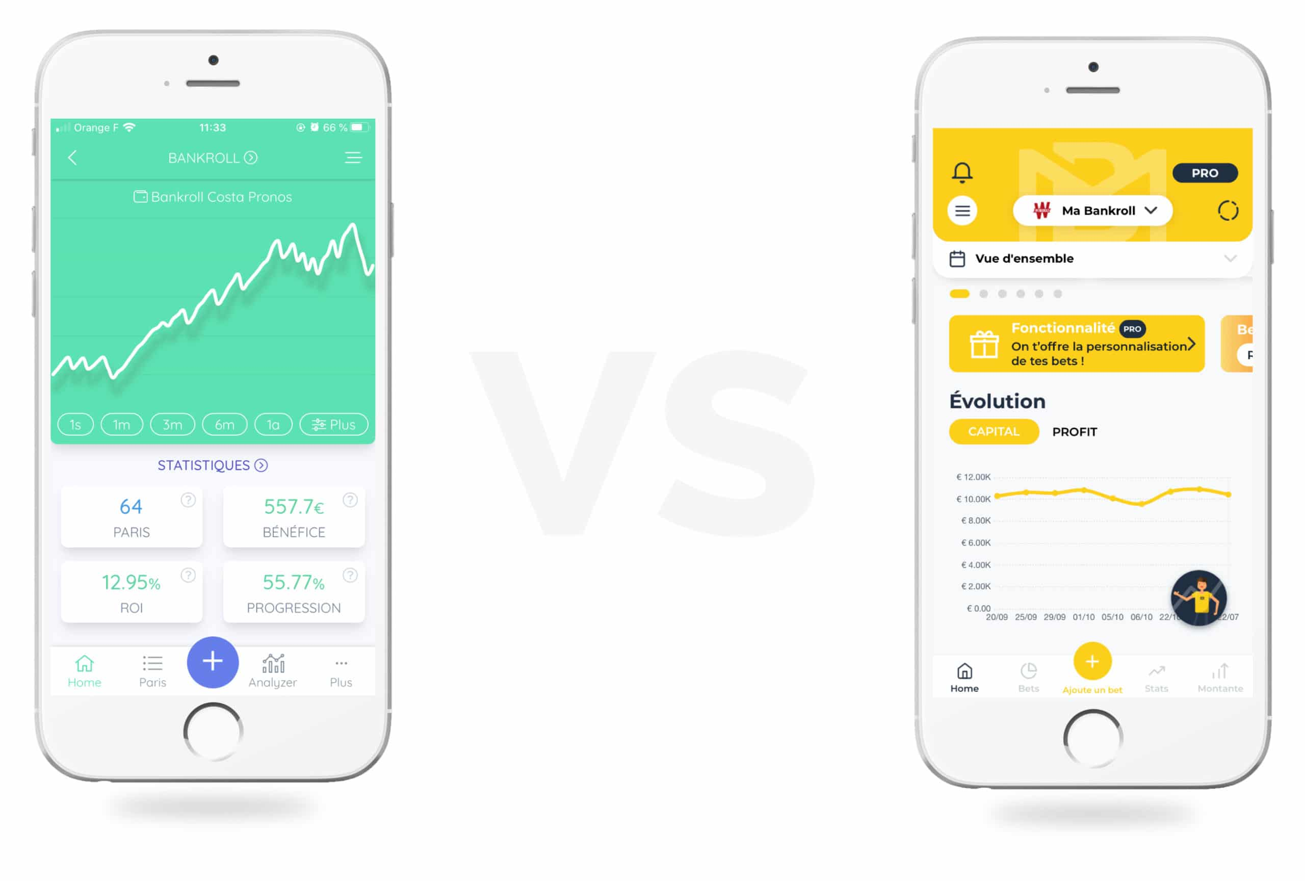 Bet Analytix et BetM sont deux applications de gestion de bankroll
