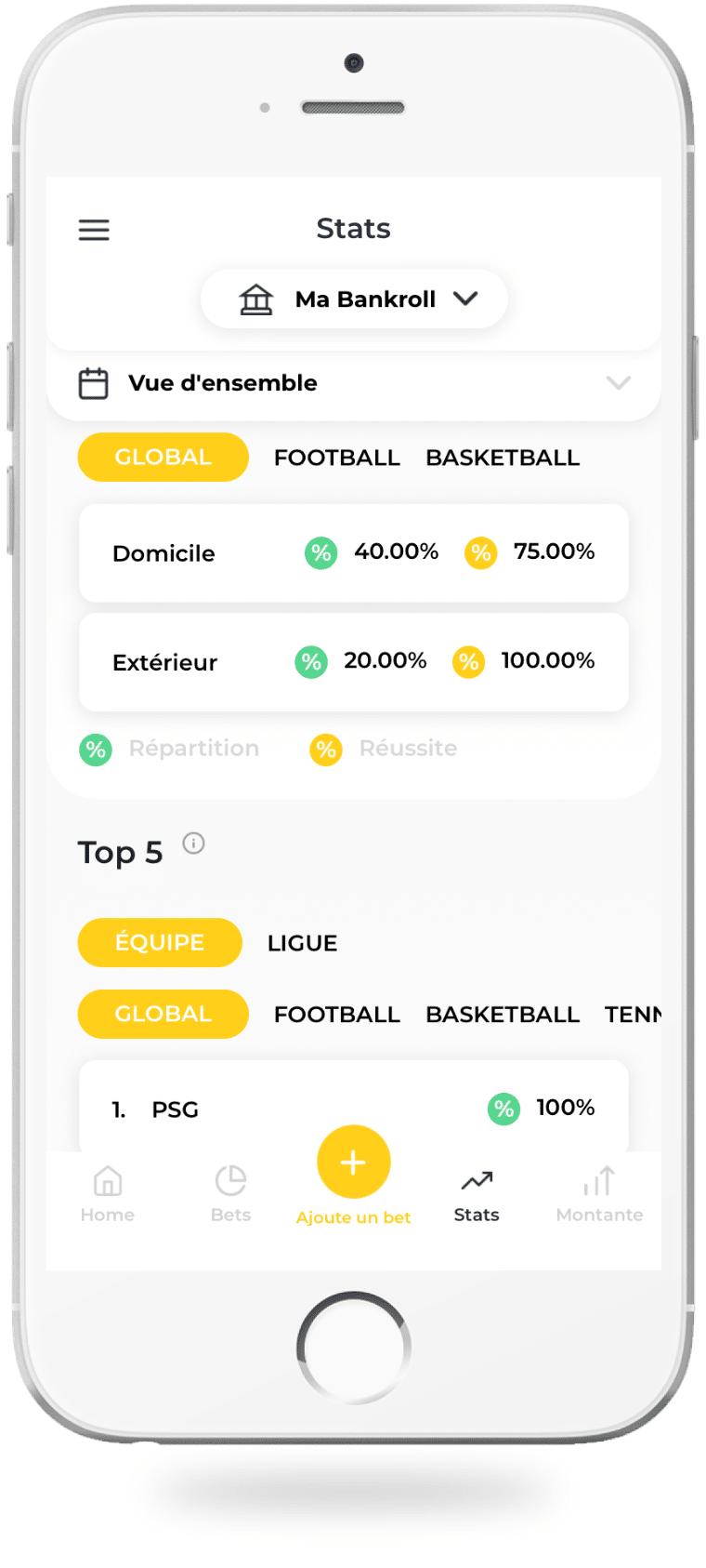 L'analyse des paris sur l'application BetM