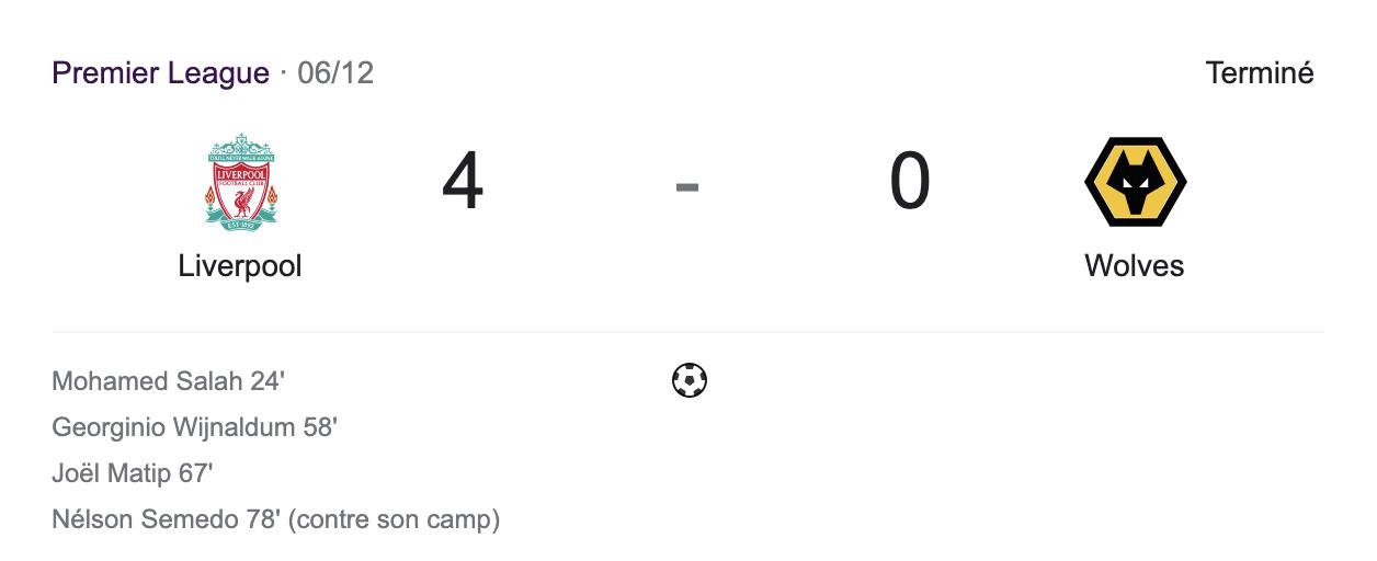 LEs deux équipes ne marquent pas avec Liverpool à domicile