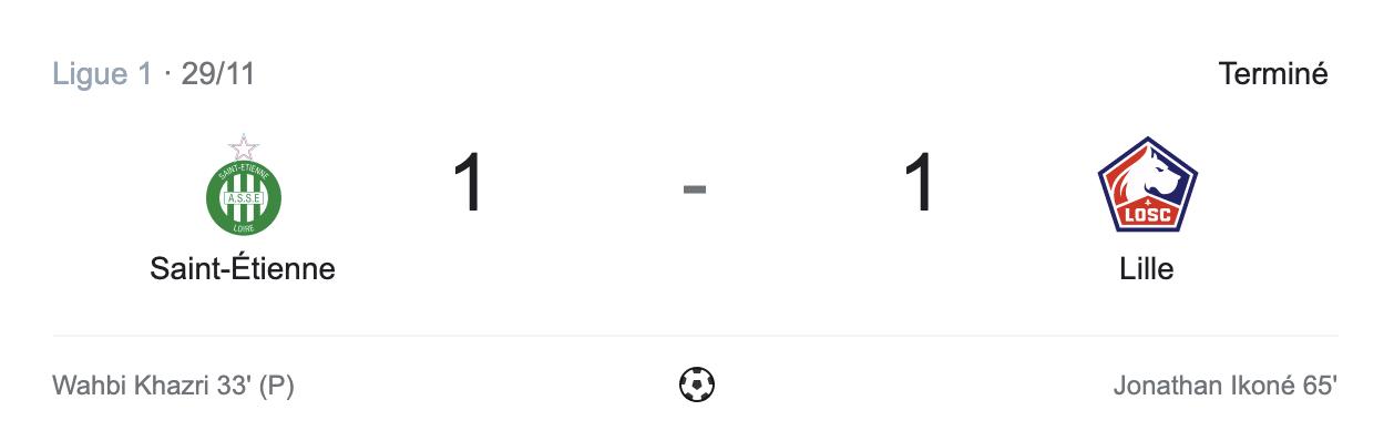 Lille et les deux équipes marquent contre les Verts